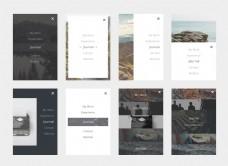 风景类app菜单卡片页