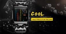 黑色背景手表炫酷广告图