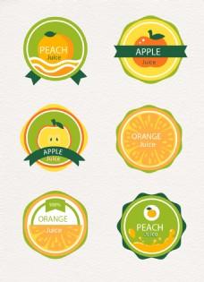 小清新绿色水果设计图标