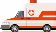 矢量卡通救护车