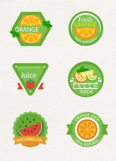 夏日绿色水果图标