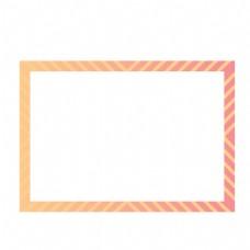 矢量卡通扁平化炫彩单页边框