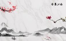 水墨江南电视背景墙