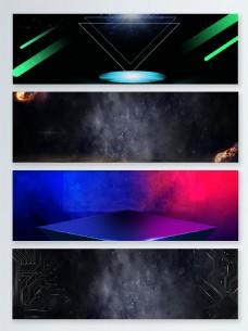 蓝色科技时尚创意banner背景