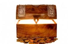 财富宝藏箱子高清