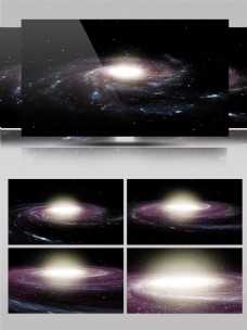 宇宙银河星系星河漩涡旋转唯美浪漫绚丽
