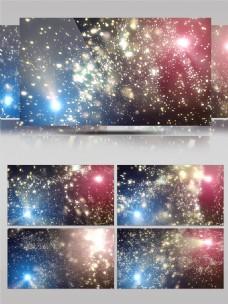 4K梦幻金色粒子飞舞流动字幕合成特效背景