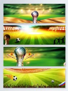 时尚大气绿色世界杯banner背景