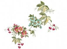 春夏鲜花盛开png元素