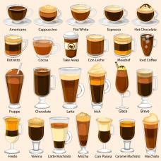 各种各样的咖啡插画