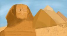 埃及金字塔建筑插画