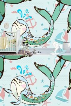 小鲸鱼找妈妈儿童壁纸图案