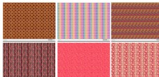 6款多彩暖色特色花纹填充图案