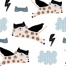 卡通小猫闪电