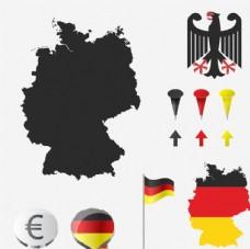 国旗剪影海报