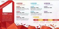 企业文化展板红暖色展板公司文化展板模板