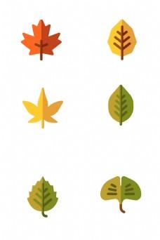 树木树叶免扣图标素材