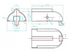 发动机内部零件轴壳CAD素材