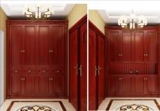 红木门厅柜