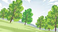 清新森林背景效果图