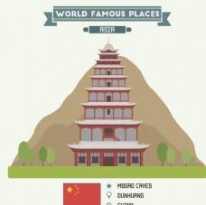中国古代宝塔 阁楼