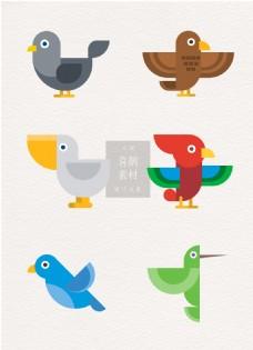 喜鹊手绘鸟类矢量ai素材
