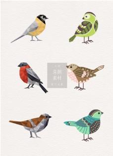 创意鸟类喜鹊ai矢量素材