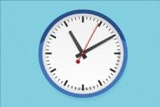 矢量卡通彩色时间挂钟