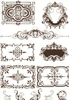 欧式古典花纹素材