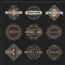 复古装饰标签