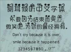 中文 字體