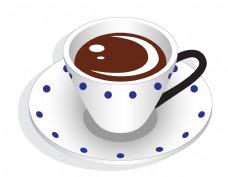 矢量白色咖啡杯元素
