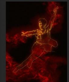 火焰 火焰男孩 舞者 舞蹈 炫