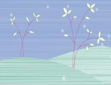 花素材背景     花纹花边